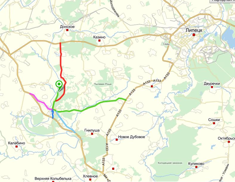 Схема проезда в лагерь «Клён»
